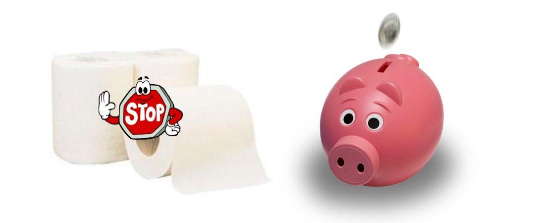 Économie de papier : ne jetez pas d'argent dans vos wc !