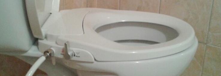 Abattant douchette japonaise avec double jet d'eau