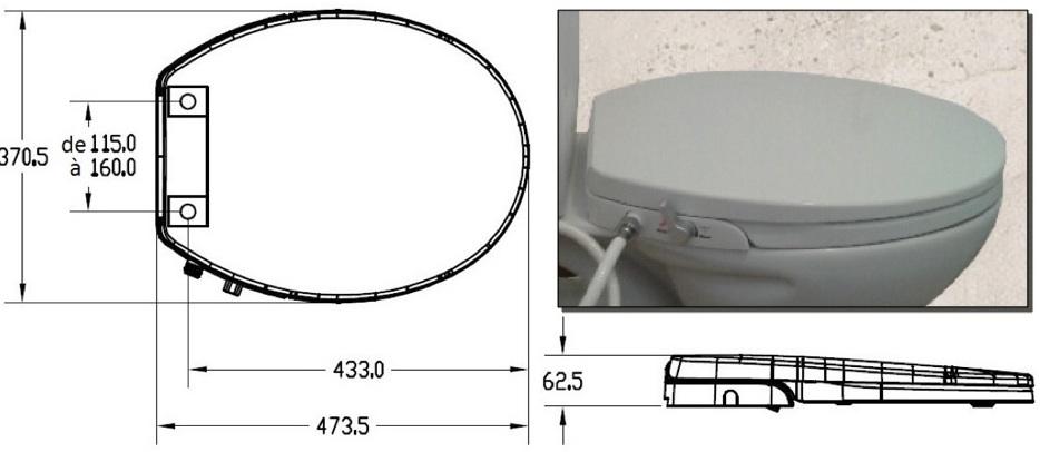 les dimensions d'un abattant wc japonais