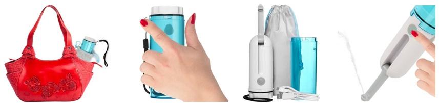 Un bidet portable électrique pour l'hygiène nomade hors de chez soi !