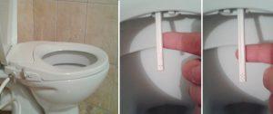 Hygiènale - Une double douchette wc japonais pour l'anus et la vulve