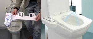 Hygiènale - Le kit douchette wc japonais diffuse un jet d'eau lavant
