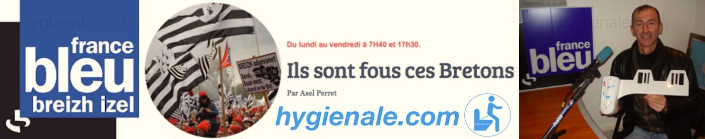 Emission France Bleu sur les toilettes Hygiènale