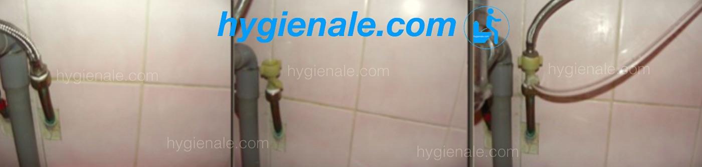 Connexion d'une douchette de toilette sur un réseau d'eau