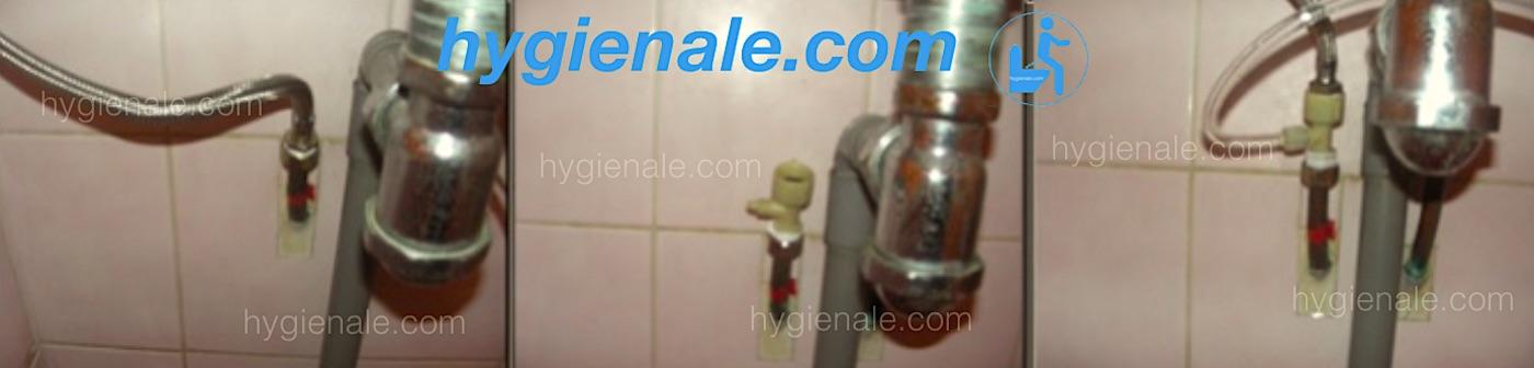 Douchette wc japonais et connexion sur le réseau d'eau