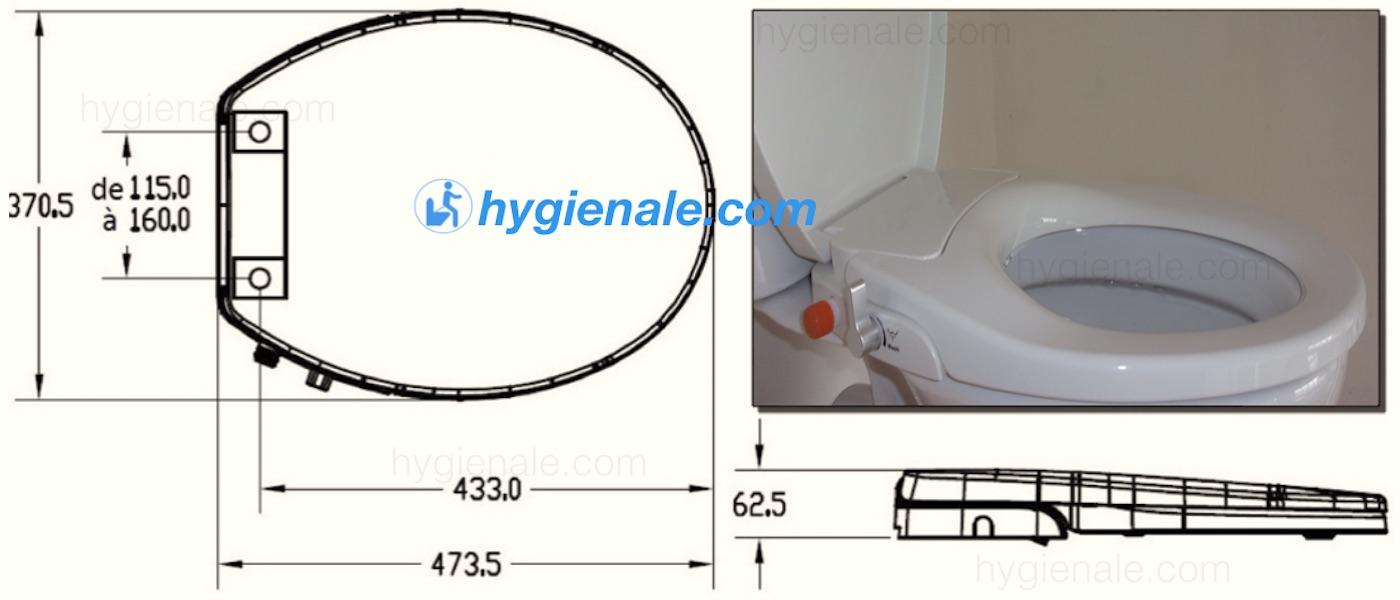 Les dimensions d'un abattant wc japonais sont prévues pour des cuvettes standards.