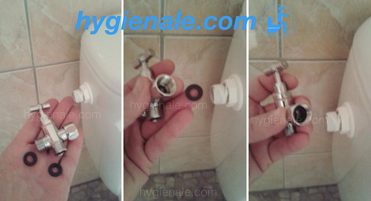 La pose d'un robinet 3 voies sur un réservoir de wc