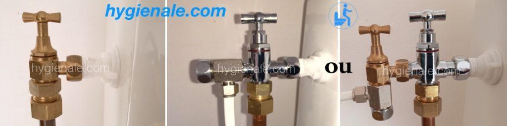 installer un robinet 3 voies de wc japonais