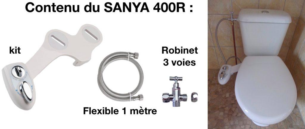 Le kit abattant toilette japonaise pour se fixe sur une cuvette de wc.