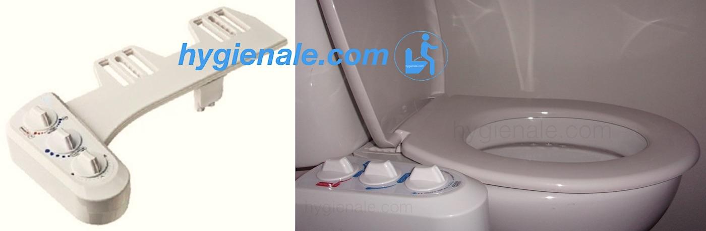 Le kit wc bidet japonais pour l'hygiène aux toilettes possède une douchette
