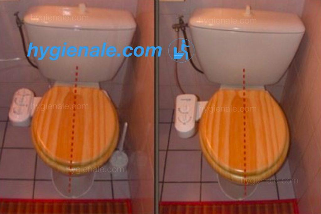 Installation d'un kit wc japonais sur toilette