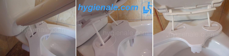 Poser une lunette ou abattant de toilette wc japonais sur un siege de toiletteL