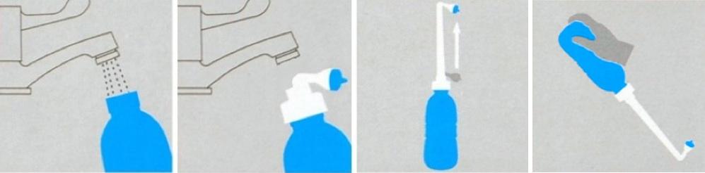 Lire le mode d'emploi d'un bidet à main portatif pour l'hygiène intime