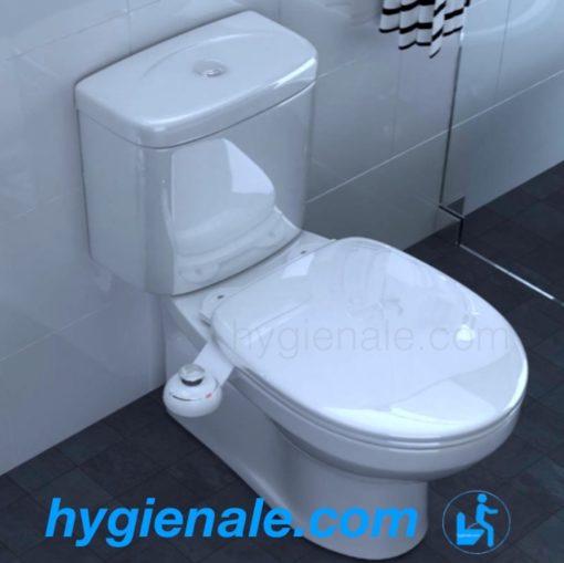 Photo d'un kit wc japonais sur une toilette à bidet
