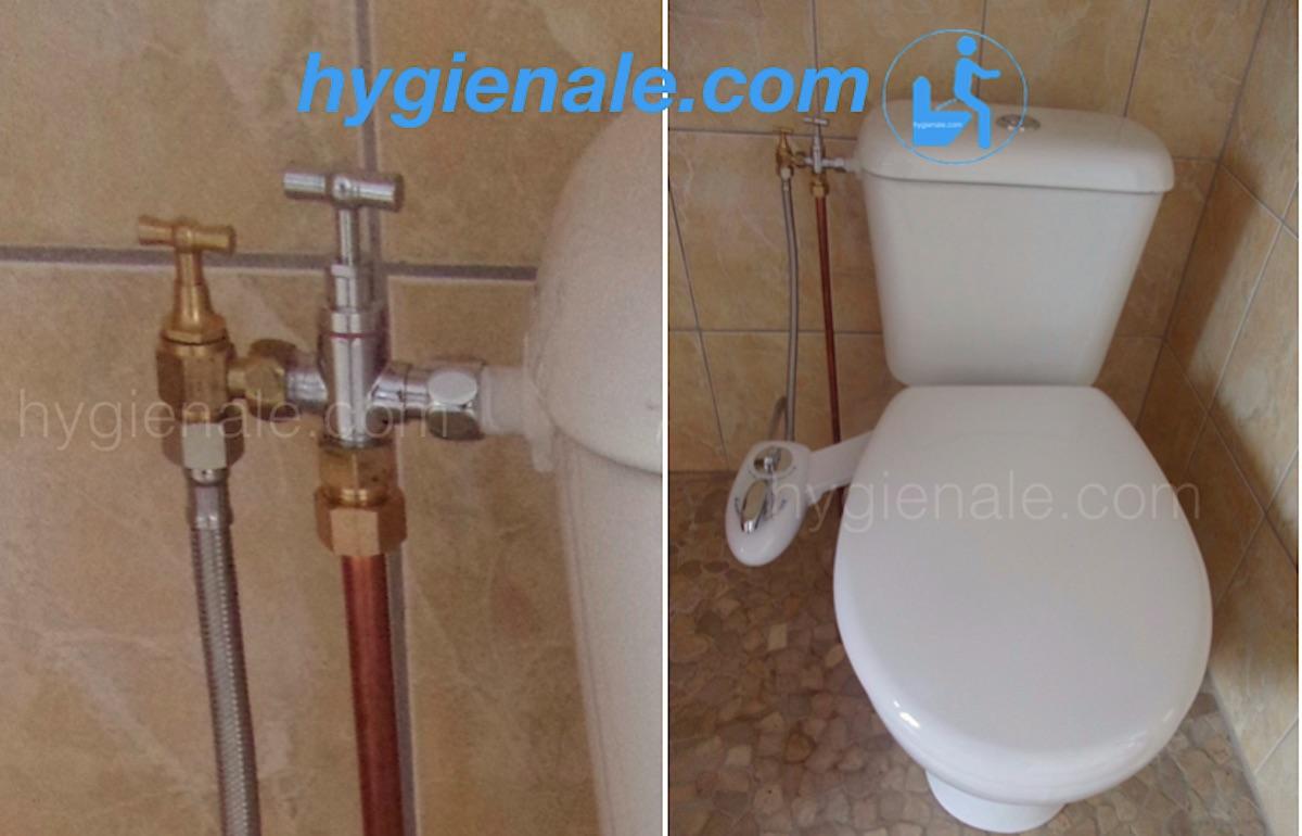 Le wc japonais est installé avec un robinet 3 voies